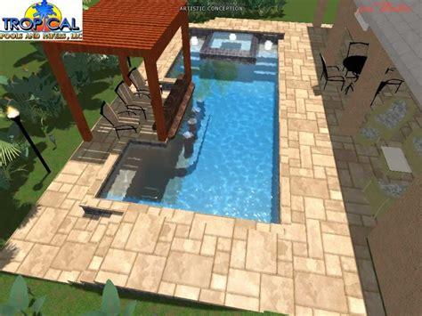 professional  pool design tropical pools  pavers