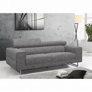 canap fixe contemporain gris clair beverly With canapé convertible cuir avec tapis gris clair