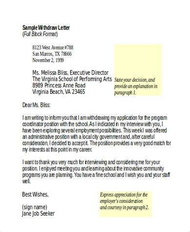 sample appeal letter format   documents  word