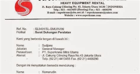Contoh Surat Penawaran Berupa Barang by Contoh Surat Dukungan Distributor Pengadaan Eprocurement