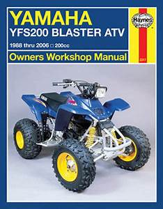 Yamaha Yfs200 Blaster Atv Haynes Repair Manual  1988