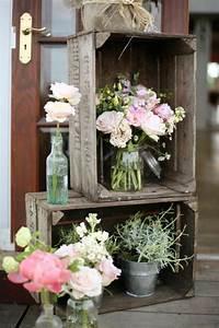 la deco chambre romantique 65 idees originales archzinefr With chambre bébé design avec fleurs pour mariage champetre