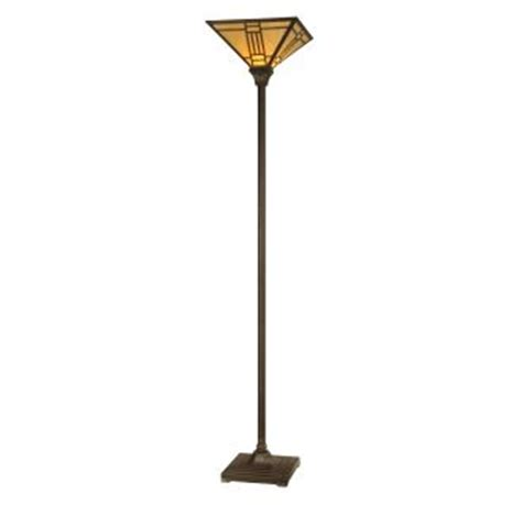 Noir Mission Style Torchiere Floor L by Dale Tr11062 Mica Bronze Noir Mission Torchiere