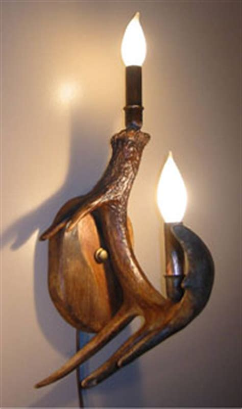 antler wall sconces made in colorado of real mule