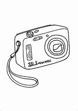Camera Coloring Digital Technology Office Freeprintablecoloringpages Printable Theseacroft sketch template