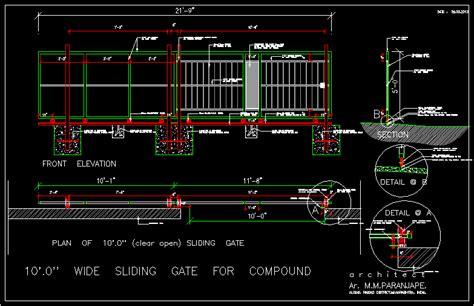 sliding gate    meters  autocad cad  kb