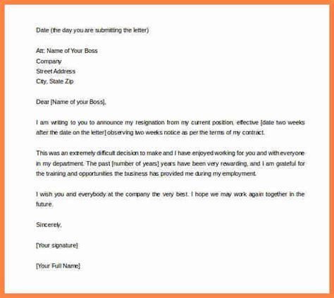 week notice  quit job notice letter
