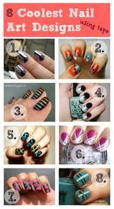 Coolest nail art designs using tape