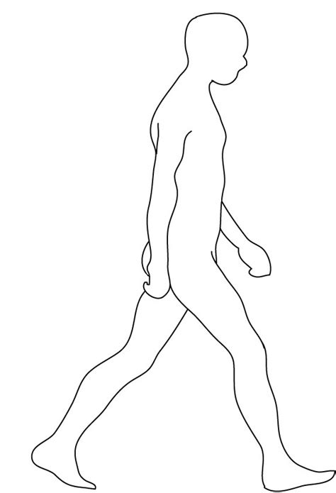Liegende Person Zeichnen by Walking Drawing Cliparts Co