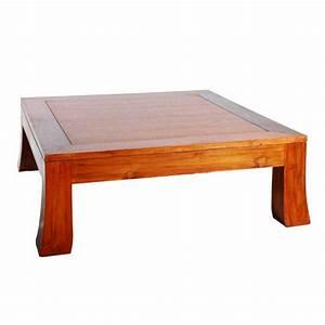 Table En Teck Massif : table basse design 100 100 en teck massif ~ Teatrodelosmanantiales.com Idées de Décoration