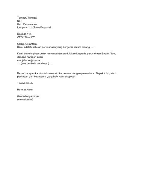 Contoh Penawaran Produk Docx by Contoh Surat Penawaran Catering