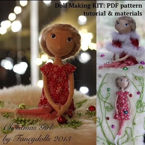 cloth doll making sewing kit pattern tutorial materials
