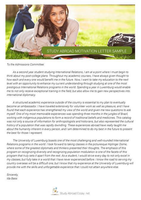 study  motivation letter sample study
