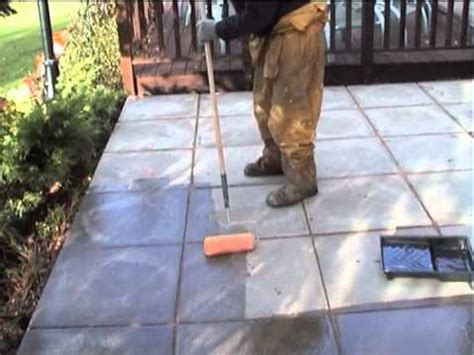 patio sealer application for protection against and