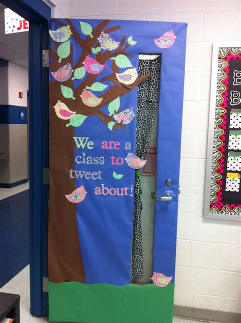 just covered my classroom door for spring ideas