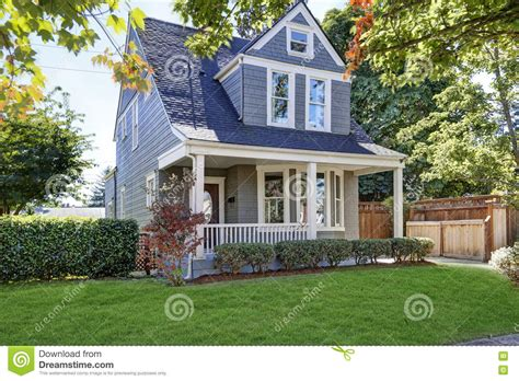 Beautiful Curb Appeal American House With Well Kept Front