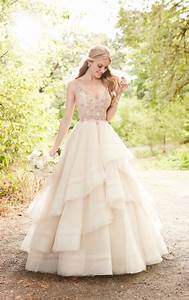 pink wedding dress with rose gold beading martina liana With rose pink wedding dress