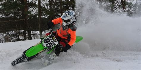 motocross snow bike get prepared for winter dirt bike riding motosport