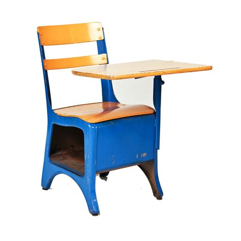 blue school desk accent chair corvallis productions