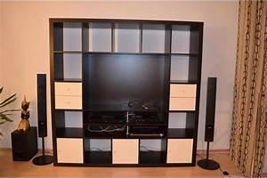 Expedit Tv Regal : ikea expedit tv regal wohnwand in schwarzbraun in ~ A.2002-acura-tl-radio.info Haus und Dekorationen