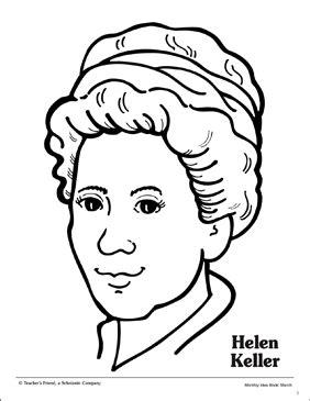 Helen Keller: Portrait Pattern | Printable Coloring Pages