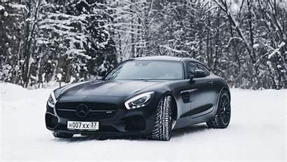 Mercedes Benz Snow Forest 4k Background Uhd