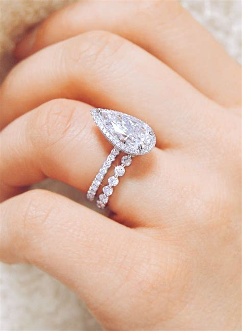 eternal love this stunning platinum pear shaped
