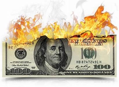 Money Burning Dollar Fire Phone Transparent Sourcing