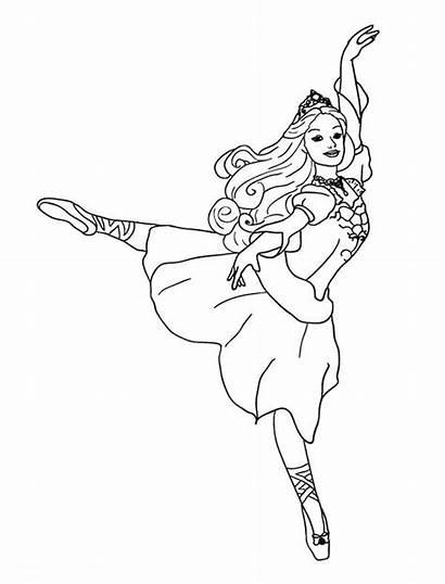 Coloring Pages Dancing Dance Barbie Ballet Princess
