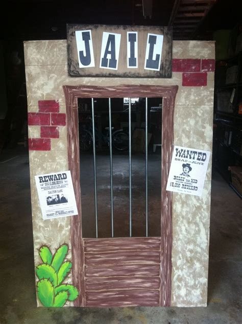 cardboard western jail crafts   cowboy party