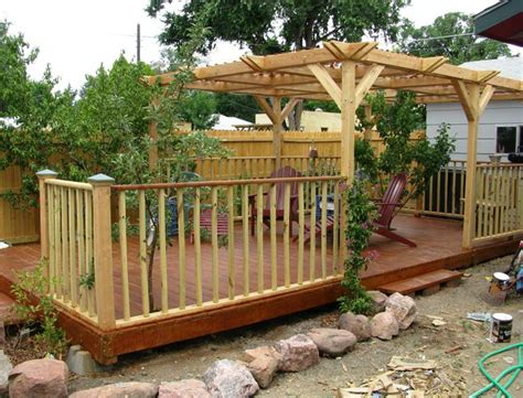 building  wood deck  home design ideas