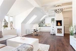 Wohnzimmer Mit Dachschräge : 55 dachschr ge ideen m bel geschickt im raum platzieren ~ Lizthompson.info Haus und Dekorationen