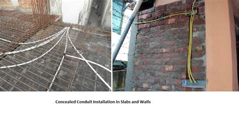 install concealed conduit electrical wiring system