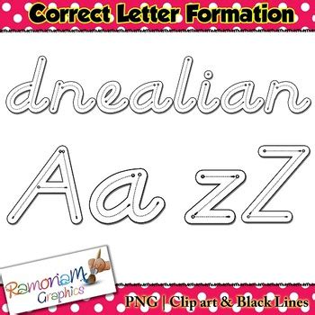 alphabet tracing letters dnealian style correct letter