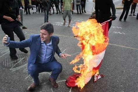 fact check  justin trudeau pose   burning
