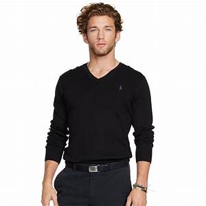 Polo V : polo ralph lauren slim fit v neck sweater in black for men lyst ~ Gottalentnigeria.com Avis de Voitures