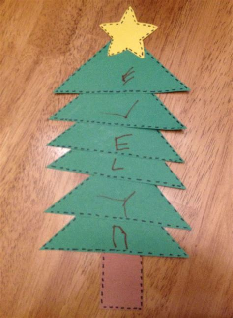 Preschool Craft Christmas Tree  Arts And Crafts For Kids