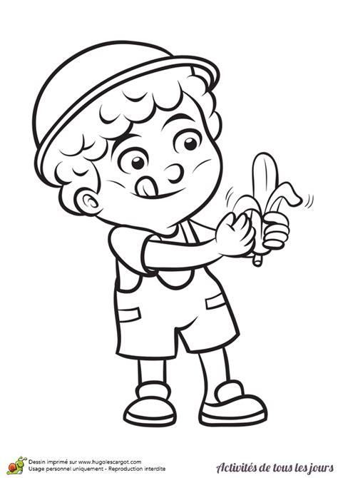 jeu de cuisine pour filles coloriage activités de tous les jours manger une banane hugolescargot com