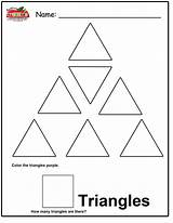 Triangle Coloring Preschool Worksheets Pages Worksheet Tracing Colouring Right Shape Template Worksheeto Via Count Results sketch template