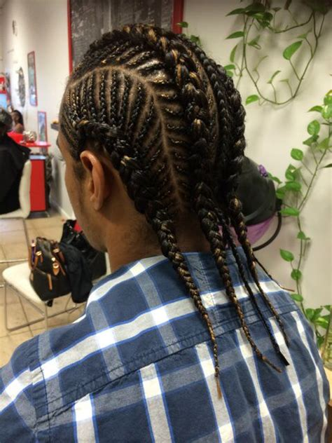 fishbone design corn row braids   hrs