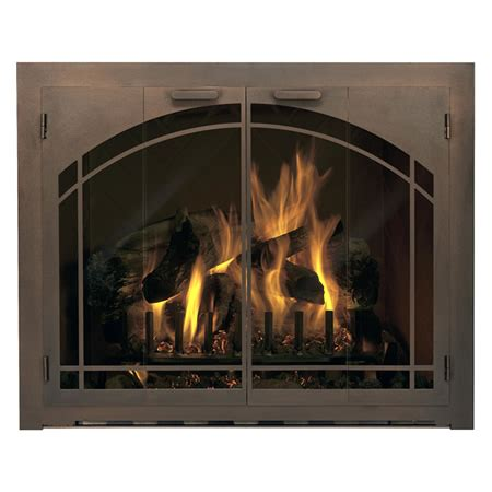 Carolina Arch Fireplace Glass Door  Window Pane