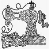 Sewing Coloring Pages Drawing Machine Mandala Antique Printable Zentangle Sew App Prints Colouring Print Forbes Oil Company Getdrawings Doodle Getcolorings sketch template