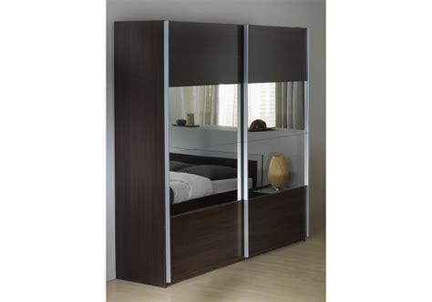 service bureau a distance armoires 2 portes coulissantes miroirs wenge