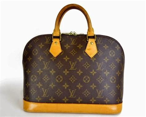 passion  designer bags louis vuitton pre loved alma monogram hand bag