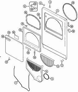 Door Diagram  U0026 Parts List For Model Lnc7766b71 Admiral