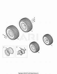Troy Bilt 13wqa2kq011 Super Bronco 50  2015  Parts Diagram For Front  U0026 Rear Wheels