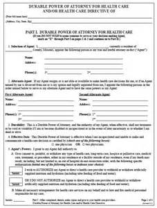 Free Medical Power of Attorney Form Template