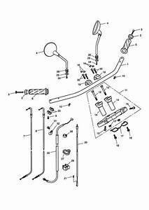 2008 Triumph Speedmaster Cable Guide  Wire  Mirrors