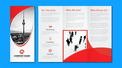 business brochure illustrator tutorial tri fold business brochure