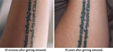 sehen tattoos nach ein paar jahren aus willst du